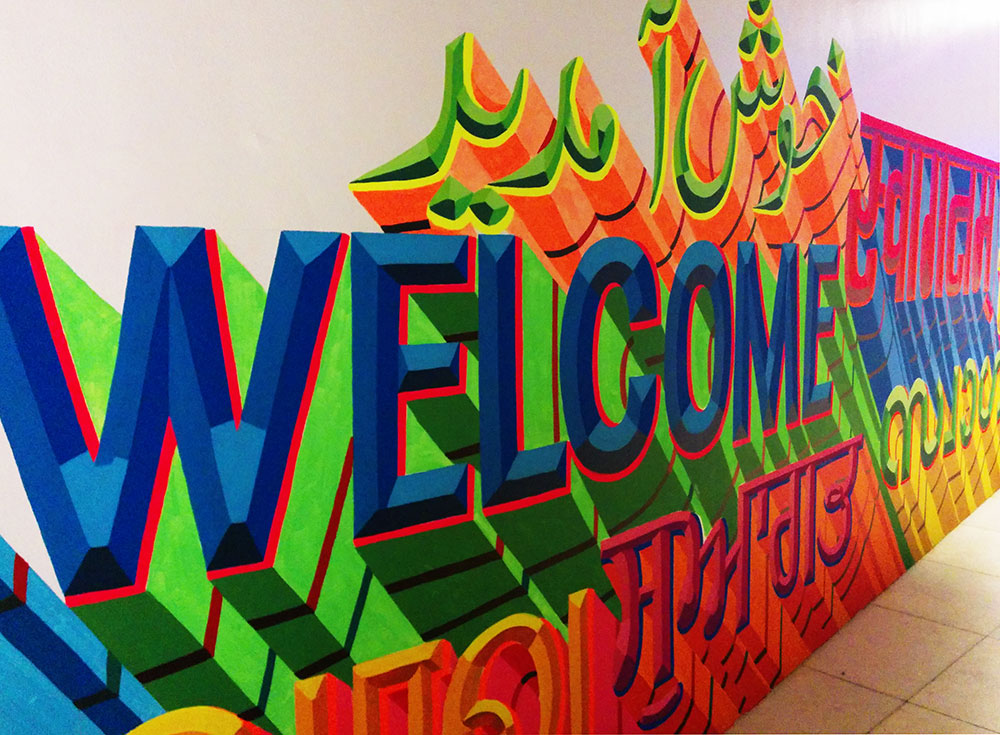 Hand painted lettering by Hanif Kureshi and Shabbu