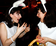 Bunnies... er... Actionettes at Sophisticated Boom Boom! - March 2005