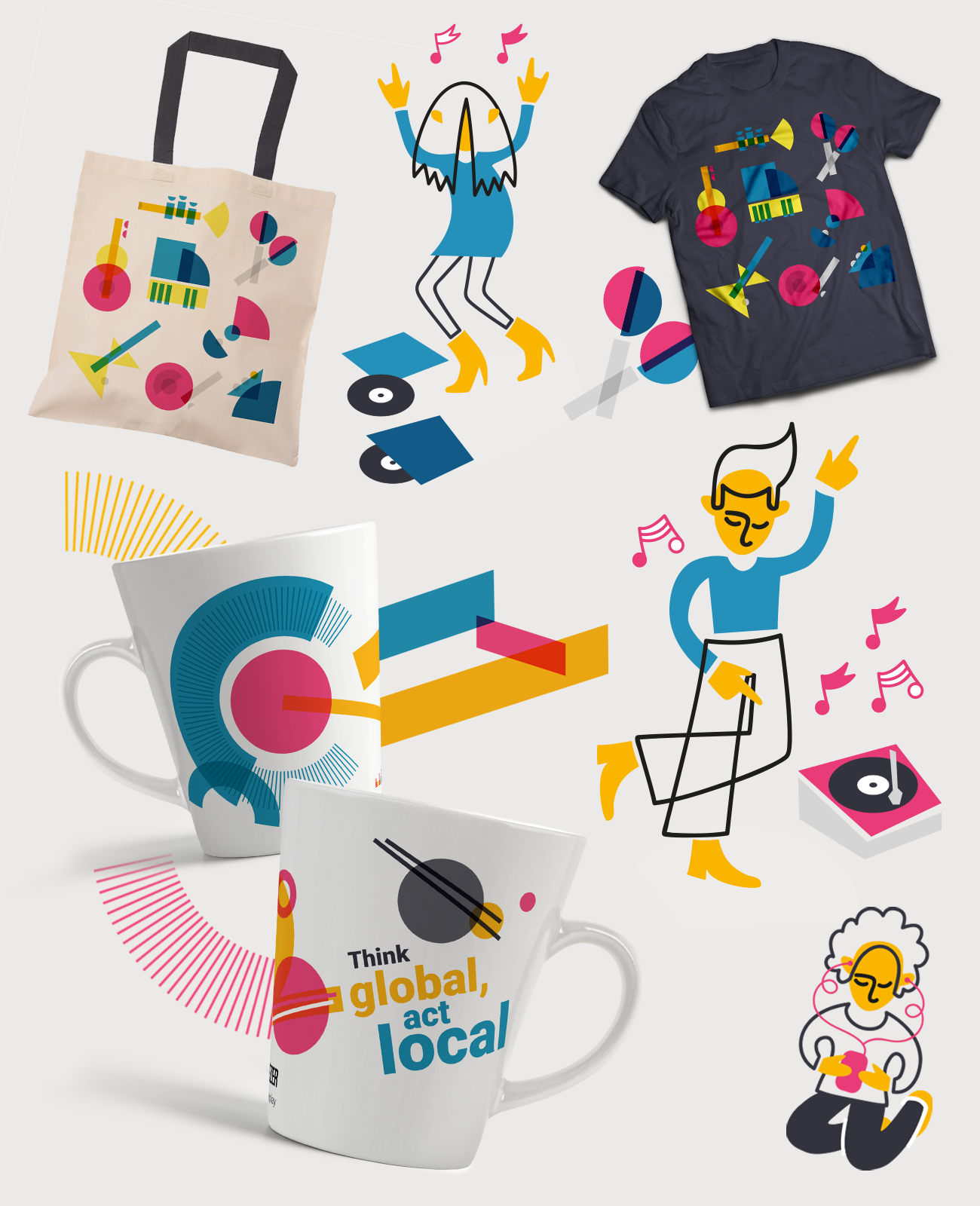 Deezer - merch and illustration